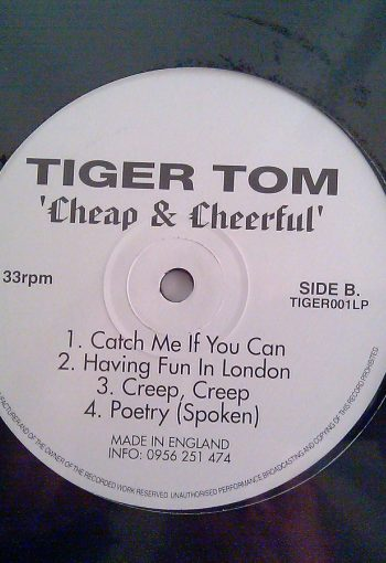 TigerTom Cheap & Cheerful Album LP B-Side