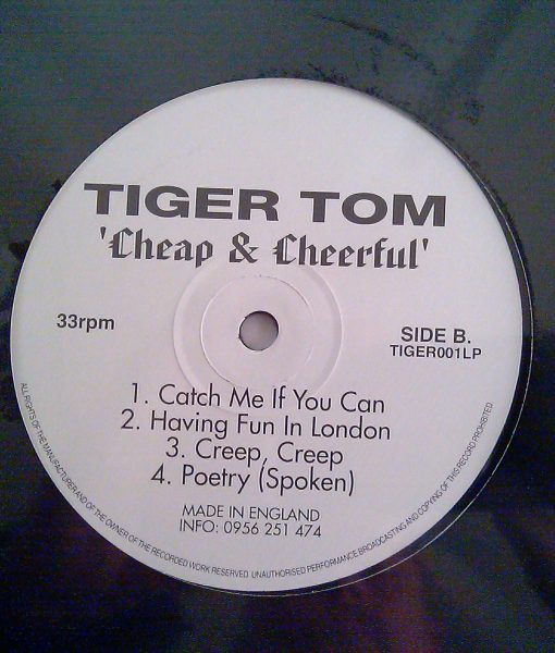 TigerTom Cheap & Cheerful Album LP B-Side